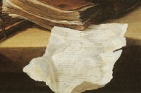 Torn Page-from painting by  Jan de Heem