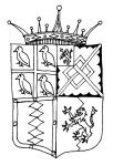 A drawing of the Earl of Southampton's Coat of Arms.