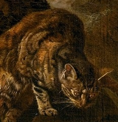 Gib's Uncle - A Crouching Cat from a painting by Jacob Victors.