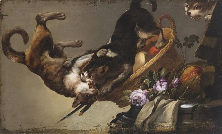 Three Cats Fighting - workshop of Franz Snyders (1579-1657).