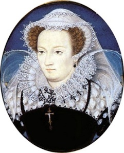 The Stew Queen, better known as Mary Stuart, former Queen of Scots. By Nicholas Hilliard c.1578