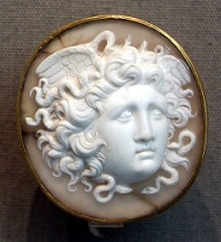 A Cameo of the Medusa, via Wikimedia Commons. Photo by Saliko.