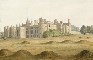 Cowdray House, from a painting by S.H. Grimm.