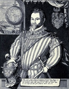 Sir Francis Drake, from James Corbett's 1908 biography in the Internet Archive.