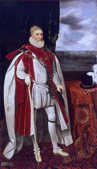 Lord Howard (1536-1624) painted by Daniel Myrtens c1620.