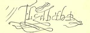 Queen Elizabeth's Signature.