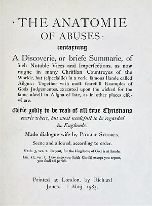 Anatomie of Abuses – The Earl of Southampton\'s Cat