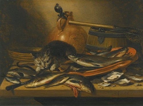 """If wishes were fishes..."" A still life by Pieter Claesz (c1597-1660)"