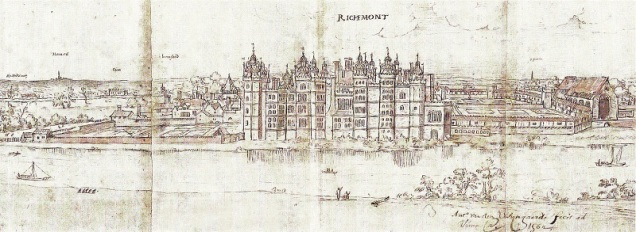 Queen Elizabeth's Palace at Richmond c1562 - Anton van den Wyngaerde