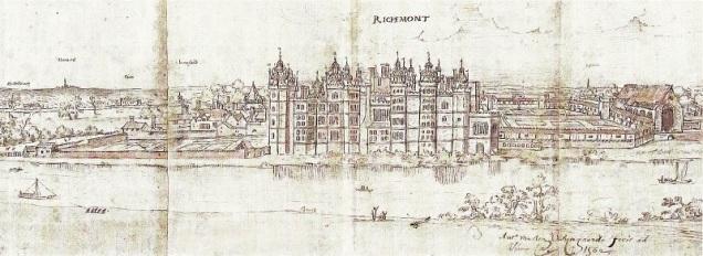 Queen Elizabeth's Palace at Richmond c1562 - Anton van den Wyngaerde