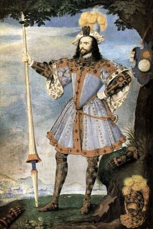 Dressed for jousting: George Clifford, 3rd Earl of Cumberland (1558-1603) - by Nicholas Hilliard.