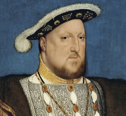 Henry VIII, Elizabeth I's father, c1537. From a portrait by Hans Holbein the Younger.