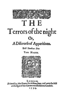 Cover page of The Terrors of the Night, or, A Discourse of Apparitions, by Thomas Nashe, printed 1594.