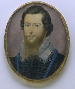 Robert Devereux, Earl of Essex - a miniature by Isaac Oliver. © V&A Museum, London.
