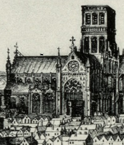 A view of old St Paul's Cathedral.