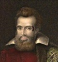 Sir Harry (Henry) Danvers (1573-1644).<br /> The scar beside his left eye is probably from the wound received in Ireland.