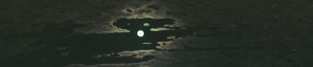 A cloudy night sky.